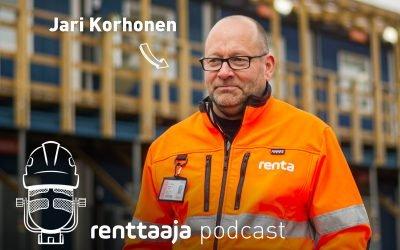 Renttaaja Podcast #8 – Äly tuli työmaatilaan – Jari Korhonen