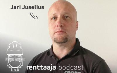 Renttaaja Podcast #9 – Minkälaista konevuokraamon arki on? – Jari Juselius, Renta Lappeenranta
