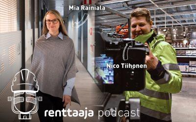 Renttaaja Podcast #12 – Työhyvinvointi on joukkuepeliä – Mia Rainiala & Nico Tiihonen